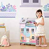 Olivia's Little World Sunroom Kids Doll House & 11 Accessories for 3.5' Dolls Multi TD-13361A