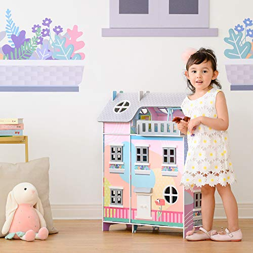 """Olivia's Little World Sunroom Kids Doll House & 11 Accessories for 3.5"""" Dolls Multi TD-13361A"""