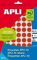 【APLI】手書き丸カラーラベル 126片 (AP-02732)