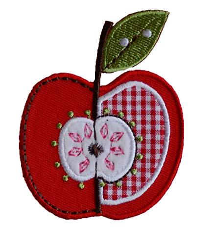 TrickyBoo 2 Aufbügler Apfel 6X8cm Heuschrecke 7X6cm Set Aufnäher Flicken Applikationen zum Ausbessern von Kinder Kleidung mit Design Zürich Schweiz für Deutschland und Österreich