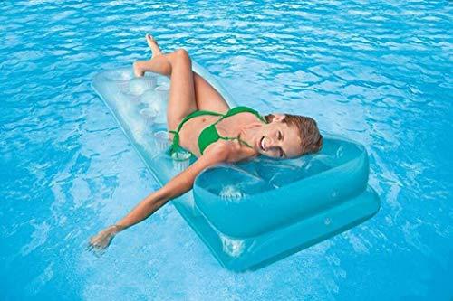 Waniyin Aufblasbarer Pool, Aufblasbarer Pool-Schwimmball 18 Loch - Loungesessel Pool-Luftkissen Wassersport-Spaßspielzeug, 188x71cm