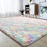 junovo Soft Rainbow Area Rugs for Girls Room, Fluffy...