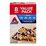 Atkins Snack Bar, Caramel Chocolate Nut Roll, Keto Friendly,(Value Pack)