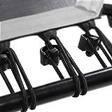 SportPlus Gummiseile-Set für SportPlus Fitness Trampoline, 36 Bungee-Seile inkl. Befestigungsclips, Härtegrad hart, Nutzergewicht ca. 90 bis 130 kg, schwarz