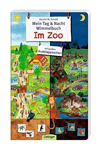Mein Tag & Nacht Wimmelbuch: Im Zoo