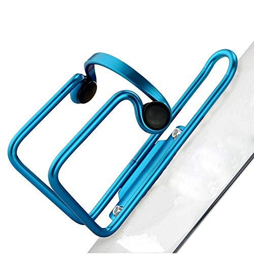 Aluminiumlegering drinken waterflesrek houder kooien, beugelfles houder voor fietsaccessoires kolfhouder (Color : Blue)