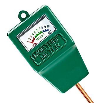Moisture Meter - DGQ Indoor/Outdoor Moisture Sensor Meter Soil Moisture monitor Hydrometer for Gardening Farming Plant Care Garden,Lawn  No Battery needed   F green
