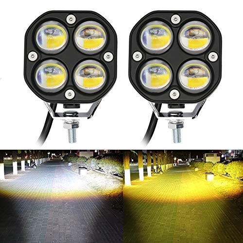 LED Pod Lights Driving Fog Lights Amber/Yellow...