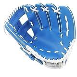Guantes De Béisbol con Soft PU Sólida Engrosamiento De Piel Guantes De Softball De La Jarra para Niños Adolescentes Adultos Right Hand Throw Azul Style3