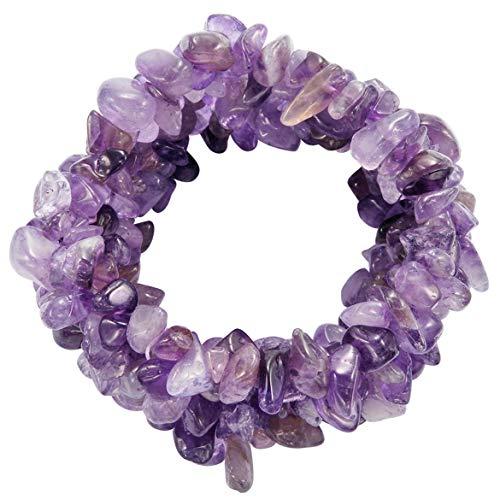 Granaat lila stretch armband - multiset armband met stenen - edelsteen armbanden voor vrouwen