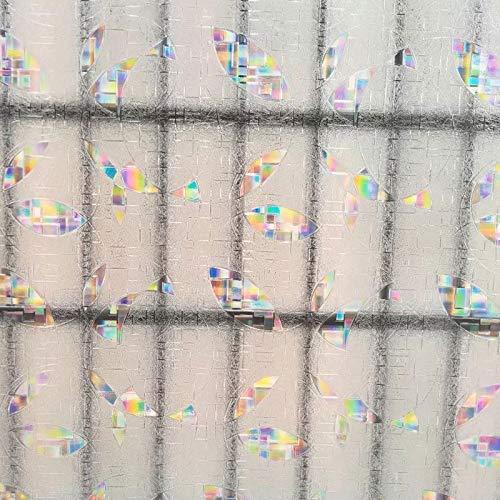 N / A 3D color round window film glass sticker color laser privacy anti-static matte home furniture decorative film A6030x200cm