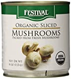 instecho Festival Organic Sliced Mushrooms, 4 Ounce (Pack of 12), Pink