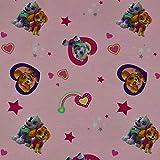 Jersey Paw Patrol Herzen, Skye und Everest, rosa (50cm x