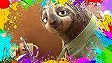 JDFKK Puzzle De 1000 Piezas Adultos Alivio del Estrés Niños Juegos Intelectuales Zootropolis Sloth Flash Madera Multicolor Personalizar Personalizar Creatividad