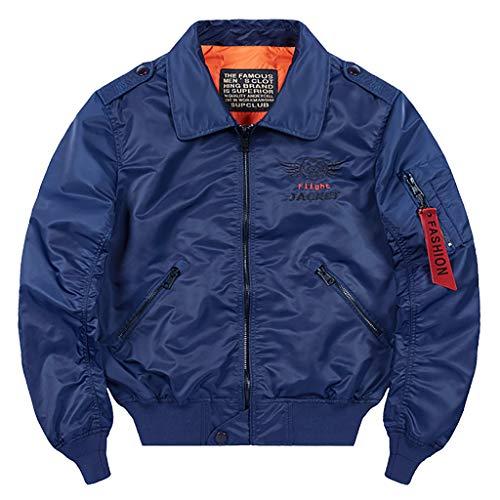 MAYOGO Herren Regenjacke Windbreaker Outdoor Jacke Funktionsjacke Arbeitskleidung Bikerjacke Motorradjacke Sweatjacke mit Zip Tasche (Blue, XXXXL)