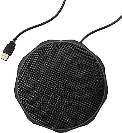 ZILNK USB Conference Microphone,360° Omnidirectional Mic with Echo Cancellation and Noise Reduction for Computer,Compatible with Windows, Mac OS,Plug & Play Mic for Video Conference,Chatting,Skype.