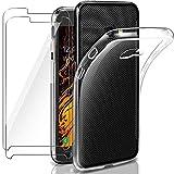 Hülle für Samsung Galaxy Xcover 4/4s mit 2 Panzerglas Schutzfolie, Slim Durchsichtig Silikon Handyhülle, Transparent Schutzhülle Superdünne TPU Bumper Hülle Stossfest - Crystal Clear