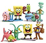 DYRCJ Movie Doll Spongebob Nettes Modellierspielzeug Aquarium Dekoration Geburtstagsgeschenk 8er Set