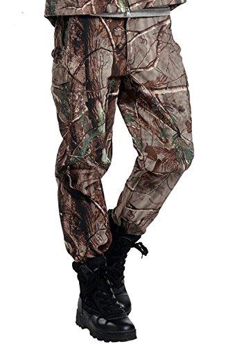 TongCart Tactique imperméable à l'eau Soft Shell Pantalons Hommes Hiver Coupe Camouflage Polaire Militaire Pantalon Armée Chasse Camouflage