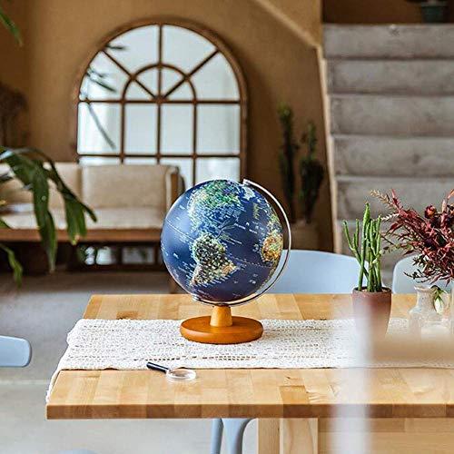 Globo del Mundo Iluminado Lámpara 2 en 1 Globos geográficos con luz LED Globo terráqueo de Escritorio con Soporte Discovery Educational World Globes para niños, 30 cm / 12 Pulgadas