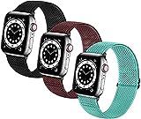 XXDA Bandas de Relojes elásticas Trenzadas Suaves de Nylon Solo Loop Compatible con for el Reloj de Apple Sport Ajustable Sport Transpirable Strap de la muñeca for iWatch Series 7/6/5/4/3/2 / 1 / SE