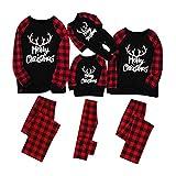 HULKY Parent Enfant Pyjama Noël Famille Pyjamas Sleepwear Vêtement Noel Bébé Enfant Femme Homme Pajamas Chemise...