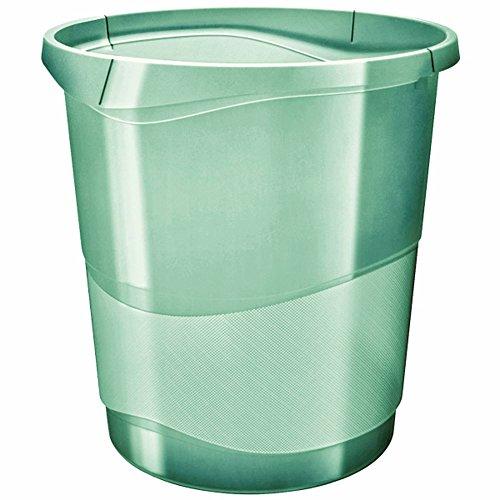 Esselte Papelera, 14L, Plástico, Verde, Colour'Ice, 626290