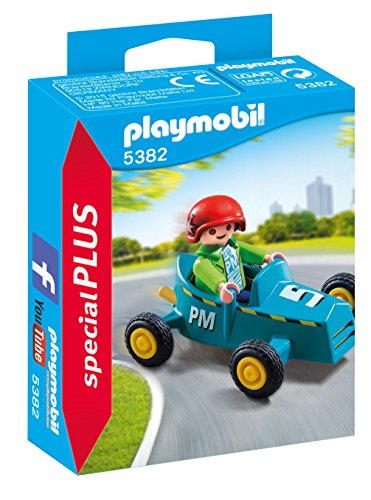 PLAYMOBIL Especiales Plus- Boy with Go-Kart Figura con