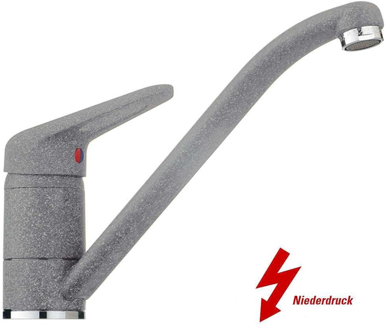 Franke 751 Steingrau Niederdruck Armatur Granit Festauslauf Mischbatterie Küche