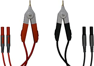 2x LCR Meter Low Resistance Clip Leads Banana Plug For Terminal Kelvin Test WRDE