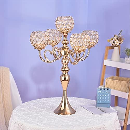5 arm crystal candelabra _image2