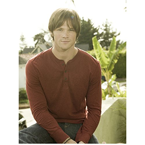 Supernatural Jared Padalecki as Sam Winchester Seated on Wall with Nice Smile 8 x 10 Photo