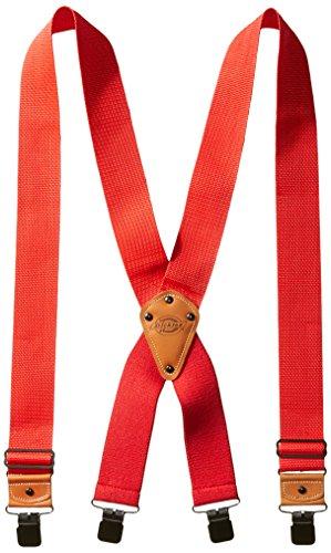 Dickies Men's Industrial Strength Suspenders, Red, One Size