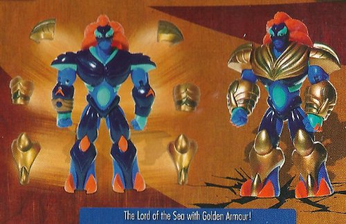 Gormiti: Toby the Lord of the Sea with Golden Armour, 12cm Figure - The Supreme Eclipse Era