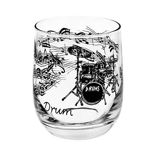 Glas Schlagzeug schönes Geschenk für Schlagzeuger