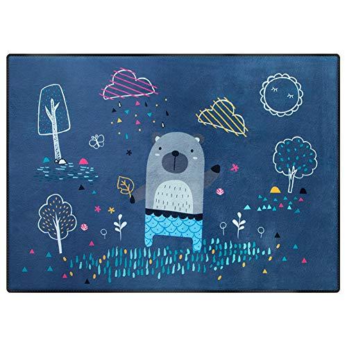 Tapis de Chambre Enfant Lavable Bébé Portable Imperméable Tapis de Jeu Non-Glissant