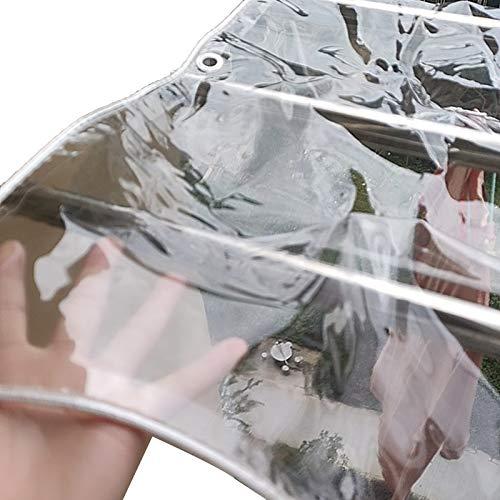 GZHENH Toldos Impermeables,Funda para Mesa Y Silla Transparente A Prueba De Polvo Anti-Nieve con Agujeros De Metal Antióxido 0,3 Mm De Espesor, 17 Tamaños (Color : Claro, Size : 4.8X 5.8m)