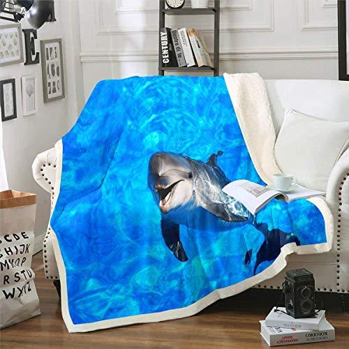 Coperta di lana con gufo Sherpa e uccellini in stile cartone animato, ideale per divano o per caffè, con motivo a pois, 152,4 x 150 cm