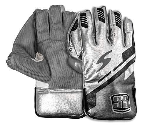 SS Catcher Premium Cricket-Handschuhe (Baumwoll-Innenhandschuhe), Herrengröße, Silber