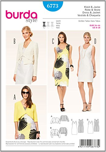 Burda Schnittmuster Kleid und Jacke 6773
