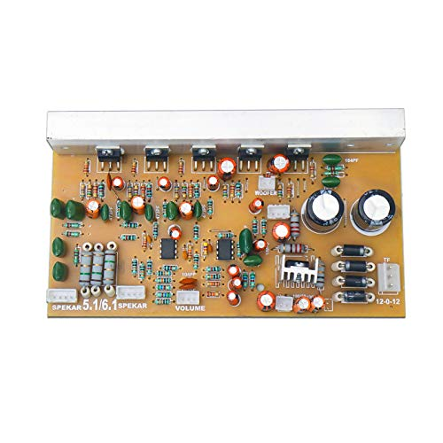 Electronicspices TDA2050 Based 5.1/6.1 Home Theater Amplifier Board Kit with Bass Boost Support Wire Leads