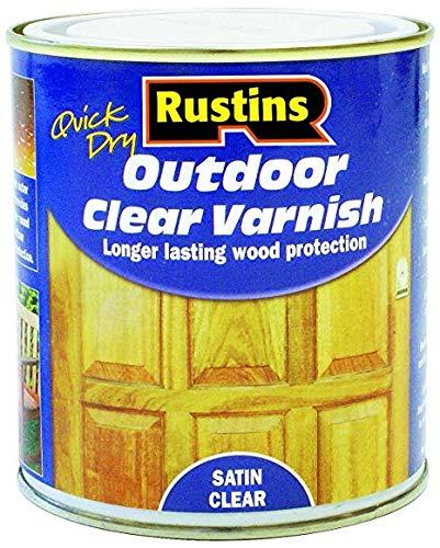 Rustins 250ml Outdoor Varnish Satin, Clear