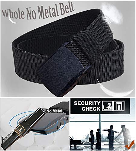 WYuZe 1.25″/1.5″ Nylon Ratchet Belt All Size No Metal Adjustable Mens Military Web Belt