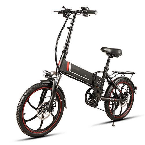 Lixada Bicicleta Eléctrica Plegable de 20 Pulgadas,Asistencia Eléctrica, Scooter Eléctrico, 350 W, Motor, Llanta Combinada