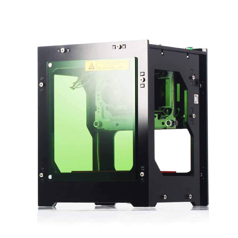 ZHFF Máquina De Grabado Láser 1500mW Mini Micro Pequeña Máquina De Grabado Láser Máquina De Marcado Plotter De Corte: Amazon.es: Deportes y aire libre