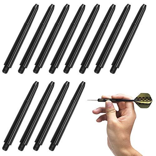 QLWNWQAD 100 Stücke Dart Ersatz Schwarze Dartzubehör Ersatzteile Dart Schaft aus Nylon Dartschäfte mit Standard 2BA Schraubengewinde Kunststoff Dartpfeile Schaft Plastik für Soft Steel Dartspitzen