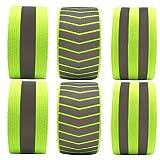 Abaodam 6 brazaletes de seguridad fluorescentes reflectantes para actividades...