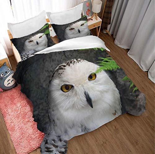GSYHZL bedding king size duvet set,3D animal king bed bedding set, boy apartment single printing double bed duvet cover and pillowcase-C_172*218cm(3pcs)