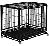 Dog Crate Dog Cage Dog Kennel for Large Dogs Heavy Duty 48 Inches Pet...