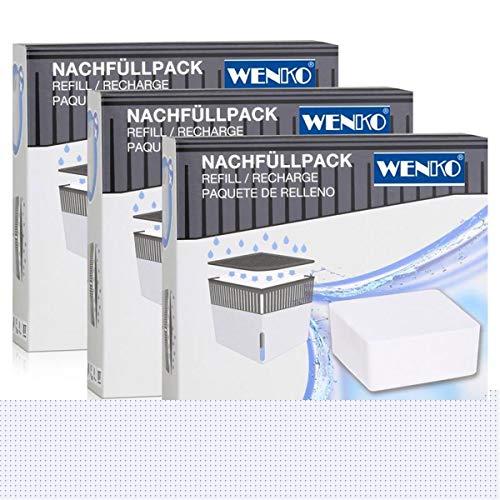 Wenko 50250100 Design Raumentfeuchter Cube Nachfüller 1000g (3er Pack)